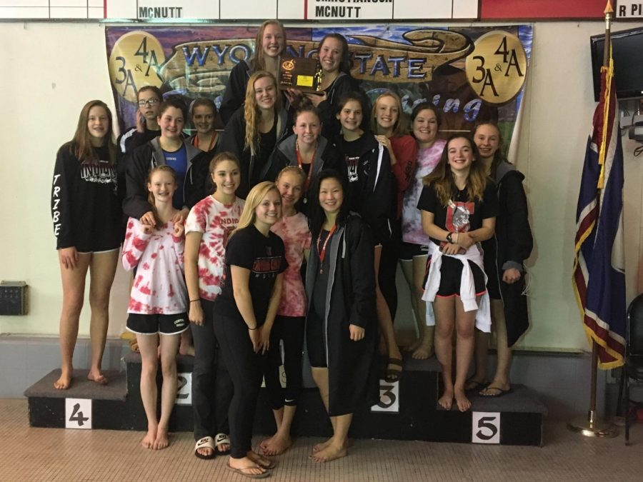 Lady Indians Capture 3rd at State Swim